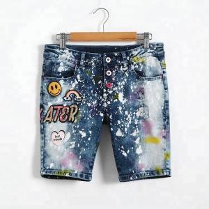 China Adjustable Waist Bermuda Short Jeans Pant For Girl , Knee Length Denim Shorts on sale