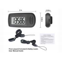 Quality Portable Sports 3D Smart Pedometer Step Counted ABS Plastic Battery Included for sale