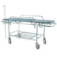 China Manual Hospital Stretcher Trolley Emergency Patient Transport 2 Years Warranty Crash Cart Medical on sale