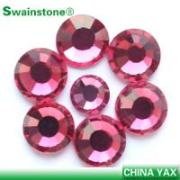 China Top quality 7A Swainstone Lt.Rose crystals flat backs,flat back crystals, flat back crystal stones for garment on sale
