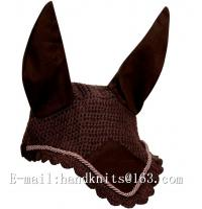 Custom Hand Crochet Horse Fly Bonnet Horse Ear Bonnet Fly Bonnet Fly Mask Equestrian Fly Veils
