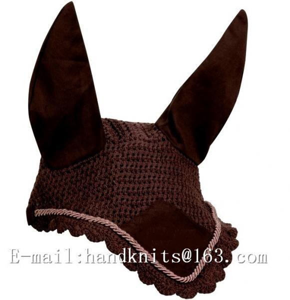 Buy Custom Hand Crochet Horse Fly Bonnet Horse Ear Bonnet Fly Bonnet Fly Mask Equestrian Fly Veils at wholesale prices