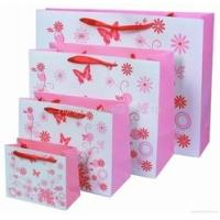China Delicately Pink Hnadle Paper Bag for Shopping , Printing Gift Paper Bag on sale