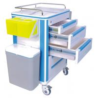 Quality 3 Drawer Aluminum or Stainless Steel Hospital Medical ABS Nursing Carts for sale