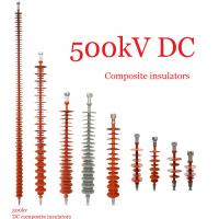 Quality Composite Polymeric Silicone Rubber Insulator 500kv Creepage Distance 17600mm for sale