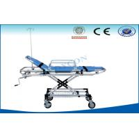 Quality Hospital Ambulance Stretcher Trolley , Rise-And-Fall Emergency Bed for sale