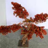 Red Leaves Jubilant Artificial Pine Trees Outdoor Shop Decoration for sale