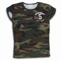 China Children's T-shirt, Made of 100% Cotton, Different Sizes and Colors are Available on sale
