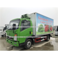 Quality Sinotruk HOWO 5 Tons Refrigerated Truck Vegetable Ice Cream Transport Freezer Truck for sale