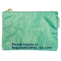 Buy Fashion Waterproof Wear Resistant Eco Friendly Breathable Reusable Tyvek Zipper Cosmetic Bag For Women, Bagease, Bagplas at wholesale prices
