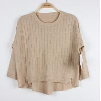 Buy cheap Autumn girls cable knit Sweaters Special Plaid Back Short Pullover Top from wholesalers