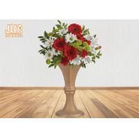 China Luxurious Frosted Gold Fiberglass Planters Centerpiece Table Vases For Artificial Flowers on sale