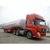 Quality 45000 Liters 3 Axle Fuel Delivery Tank Truck , Oil Tanker Truck Carbon Steel for sale