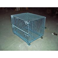 Transport Welded Steel Wire Mesh Pallet Cage With Cover Lid Protection