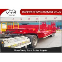 Buy cheap Heavy Duty 70T Three Axle Low Bed Semi Trailer With Spring Ramp product