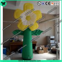 Quality Summer Holiday Event Party Decoration Inflatable Yellow Flower With LED Light for sale