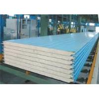 Buy cheap Polyurethane Composite Color Coated Corrugated Metal Roofing Sheets Class B Fireproof And Light Weight product