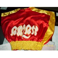 Quality muay thai shorts , Red and Yellow for sale
