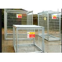 Quality Folding Steel Stackable Pallet Cages For Supermarket Gas Bottle Storage for sale