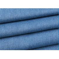 Quality Blue 100% Cotton Stretch Denim Fabric 145-150cm Width With 435g/M Weight for sale