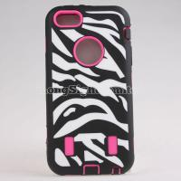 Buy cheap Zebra-Stripe Pattern Silicone+PC Case For iPhone 5C from wholesalers