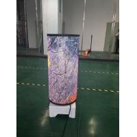 Buy cheap P2.5 Flexible LED Screen Indoor Video Advertising Curved Cylinder Display For Shop from wholesalers