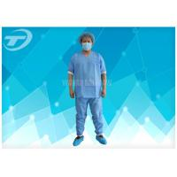 Quality Lightweight Anti - Blood Disposable Scrub Suits S - 4XL For Hospital for sale