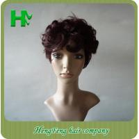 China 7A Black Deep Wave Natural Human Hair Wigs No Shedding No Tangle For Black Women on sale