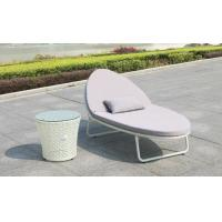 Buy cheap Outdoor Garden wicker Beach chair PE rattan chaise lounge chair patio chair from wholesalers