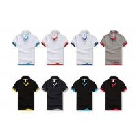Quality White Plain Cotton Golf Polo Shirts Advertising Breathable Cotton Golf Shirts for sale
