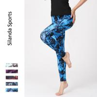 China Women Printed Yoga Leggings Sport Pants Pilated Yoga Fitnesswear Running Jogging Tights Stretchy Exercise Trousers on sale