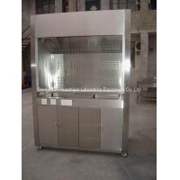 Quality LED Control Panel Stainless Steel Fume Hood 6mm Tempered Glass Window for sale