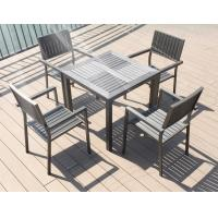 Quality Modern imitative wood chair Outdoor Garden furniture sets Coffe table poly wood chair for sale