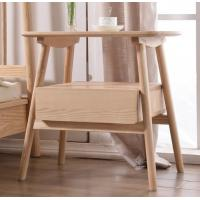Buy cheap Natural Solid Wood Night Stand , Funky Two Drawer Nightstands For Small Bedrooms product