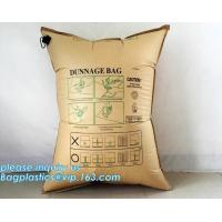 Quality Custom kraft paper bags designer paper container dunnage air bag, pillow packing bag dunnage air bag for container, Kraf for sale