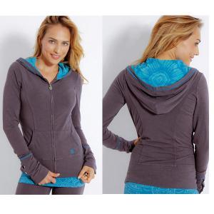 China Gym Hoodie Jacket Full ZipperWomens Sport Wear with Hood Long Sleeves on sale
