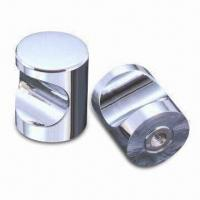China Solid brass/aluminum knobs, chrome surface and aluminum color on sale