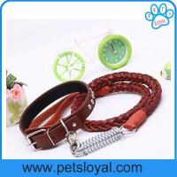 Quality Hot Sale Leather Dog Leash Collar China Factory Wholesale for sale