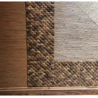 Quality 23x23x8mm Coconut shell 3 Feet Natural Fibre Wallpaper for sale
