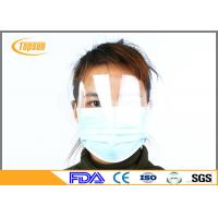 Non Woven 1 Ply / 2 Ply / 3 Ply Disposable Earloop Face Mask With Shield Dust - Proof