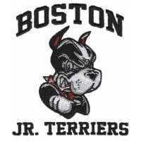 custom Embroiery digitizing Boston Jr. Terriers WFO11B07 designs services