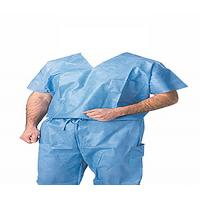 China Navy Blue Surgical Scrub Suits , Hospital Nurses Scrub Suit Uniform Short Sleeve on sale