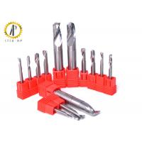 Single Flute End Mill Cutters , Small Diameter Aluminum Cutting End Mills