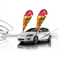 Buy cheap Outdoor Car Flag Banners and China Tire Vehicles Banners from wholesalers