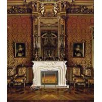 Quality European Luxury Freestanding Antique Electric Fireplace With Fake Flame for sale
