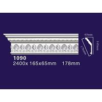 Quality Auuan PU Decoration Home Moulding Curved Cornice Molding 1090 for sale