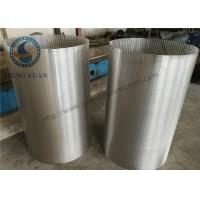 Quality 304 SS Johnson Screens Groundwater And Wells V Shape For Drum FIlter for sale