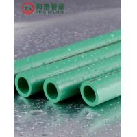 Quality Green Polypropylene Random Copolymer Pipe / Heat Resistant Plastic Pipe Smooth Surface for sale