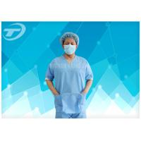Quality SMS Nonwoven Surgical  Medical Scrub Suit  / Disposable patient Gowns , CE And ISO for sale