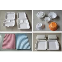 Quality 60Hz Food Box Machine / EPS Foam Clamshell Take Away Containers Production Line for sale